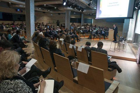 Gaztenpresa  en la presentación en Madrid del programa de mentoring de YBS