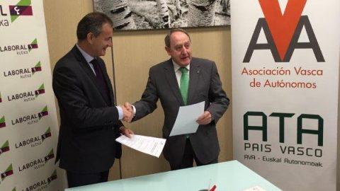 Laboral Kutxa  y La Asociación Vasca de Autónomos AVA-ATA EUSKADI  firman un acuerdo para impulsar la financiación de los autónomos y mejorar el consumo