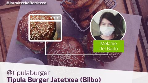Tipula  Burger:    #JarraitzekoBerritzen,  etxez  etxeko  zerbitzuaren  bidez