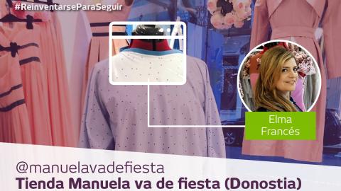 Manuela va de fiesta: la alta costura se reinventa para preparar batas de protección
